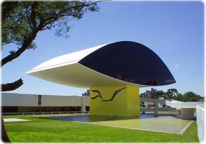 Museu Oscar Niemeyer em Curitiba-Paraná-Brasil