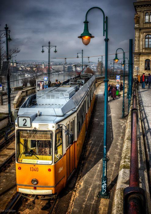 Tram 2, Budapest Hungary, Travel photography