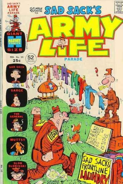 Sad Sack Cartoon | Sad Sack's Army Life #50 comic books for sale