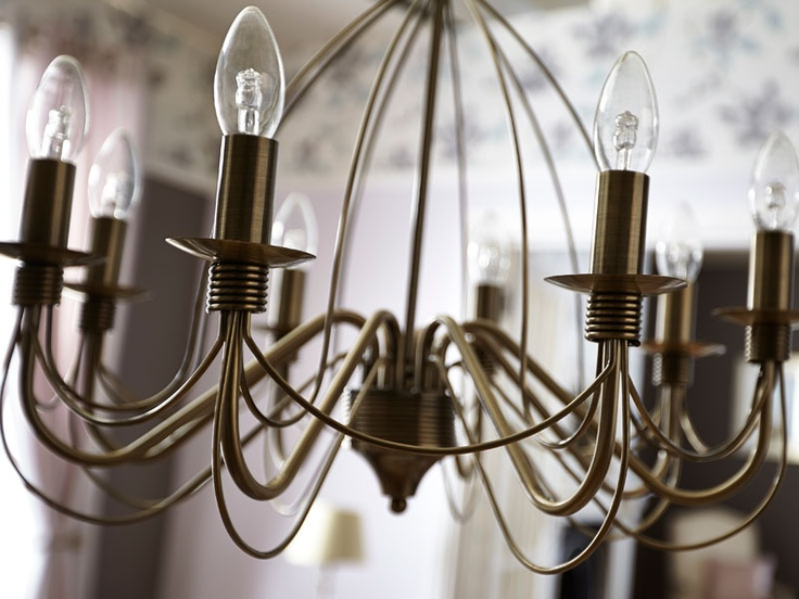 "A classical pendant light fixture from our Lights range, this large Vas eight-light model is an attractive focal point for any larger room. With its antique brass–effect curved arms and ""birdcage"" design, this eight-light pendant will add a touch of class to your decor."