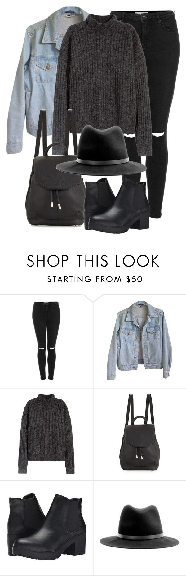 """""""Untitled #2161"""" by annielizjung ❤ liked on Polyvore featuring Topshop, American Apparel, H&M, rag & bone and Steve Madden"""