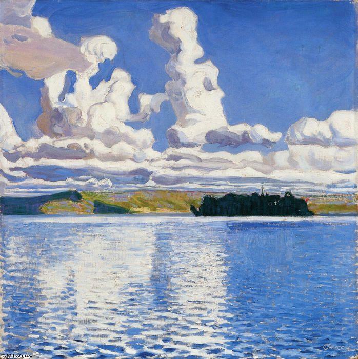 """""""Cloud Towers"""", Oil On Canvas by Akseli Gallen Kallela (1865-1931, Finland)"""