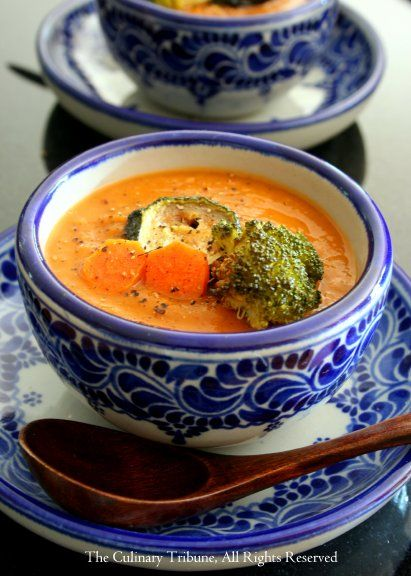 Moroccan Roasted Vegetable Soup