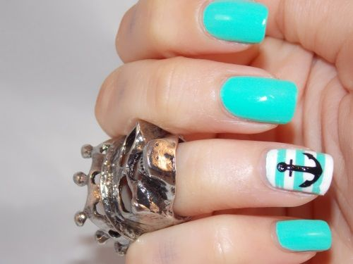 Best 25 sailor nails ideas on pinterest nautical nails china glaze too yacht to handle love this shade and the adorable anchor accent anchor nail artnautical nail prinsesfo Image collections