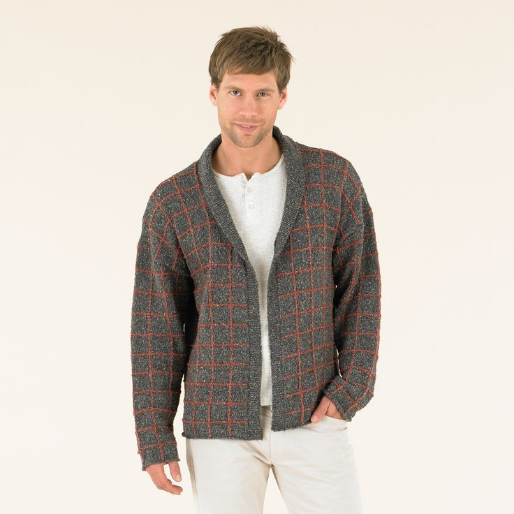 Luxury knits for men - Check Mate knitted in Sublime Luxurious Tweed DK.