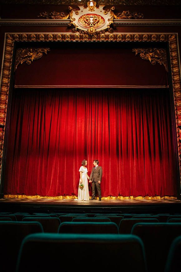 Old School Glamour for a Vintage Theatre Wedding...
