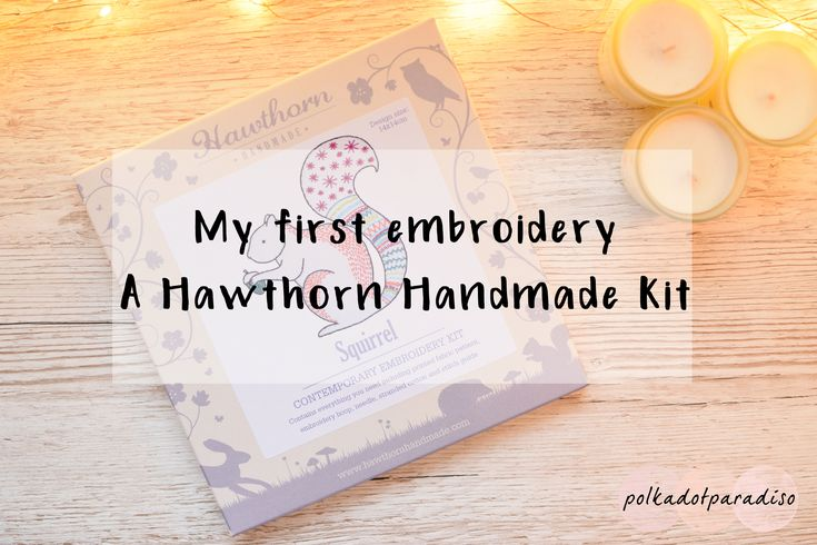Hawthorn Handmade embroidery kit | Beginners embroidery | Squirrel embroidery