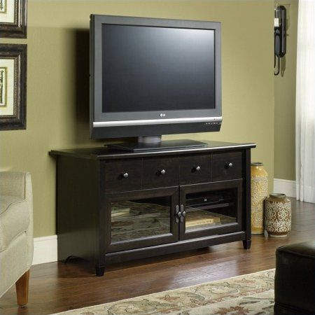 Sauder Edge Water TV Stand, for TVs up to 44 inch, Black