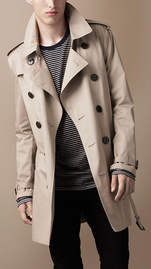 Burberry Mid-Length Cotton Trench