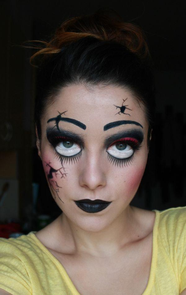 Halloween Makeup | Halloween Makeup : Creepy Broken Doll