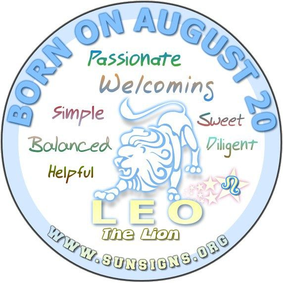 August 20 Birthday Horoscope Personality » Sun Signs
