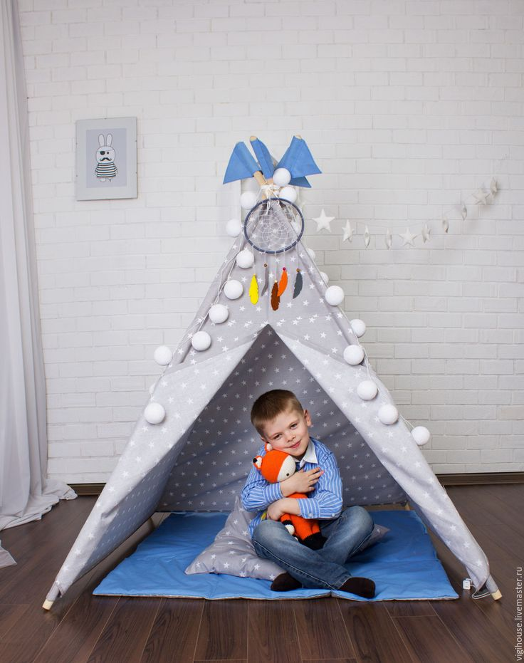 Вигвам для детей Звездная пыль - серый, вигвам, вигвам для детей, домик, типи, Палатка