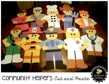 Community Helpers Cut and Paste Set