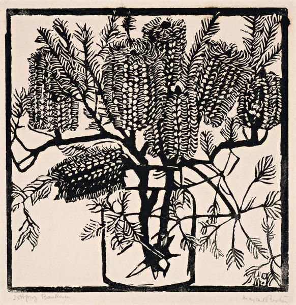 Margaret Preston   Woodblock  'Banksia'  1925