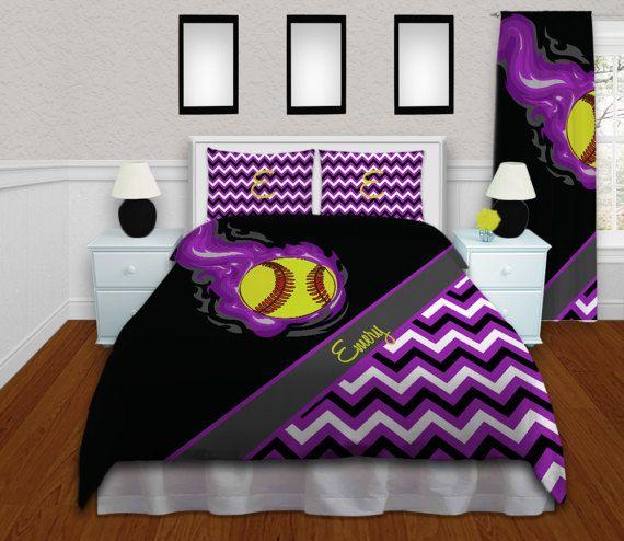 Girls Softball Bedding Purple Duvet Cover Softball Bedding. 67 best Macy softball room images on Pinterest   Softball stuff