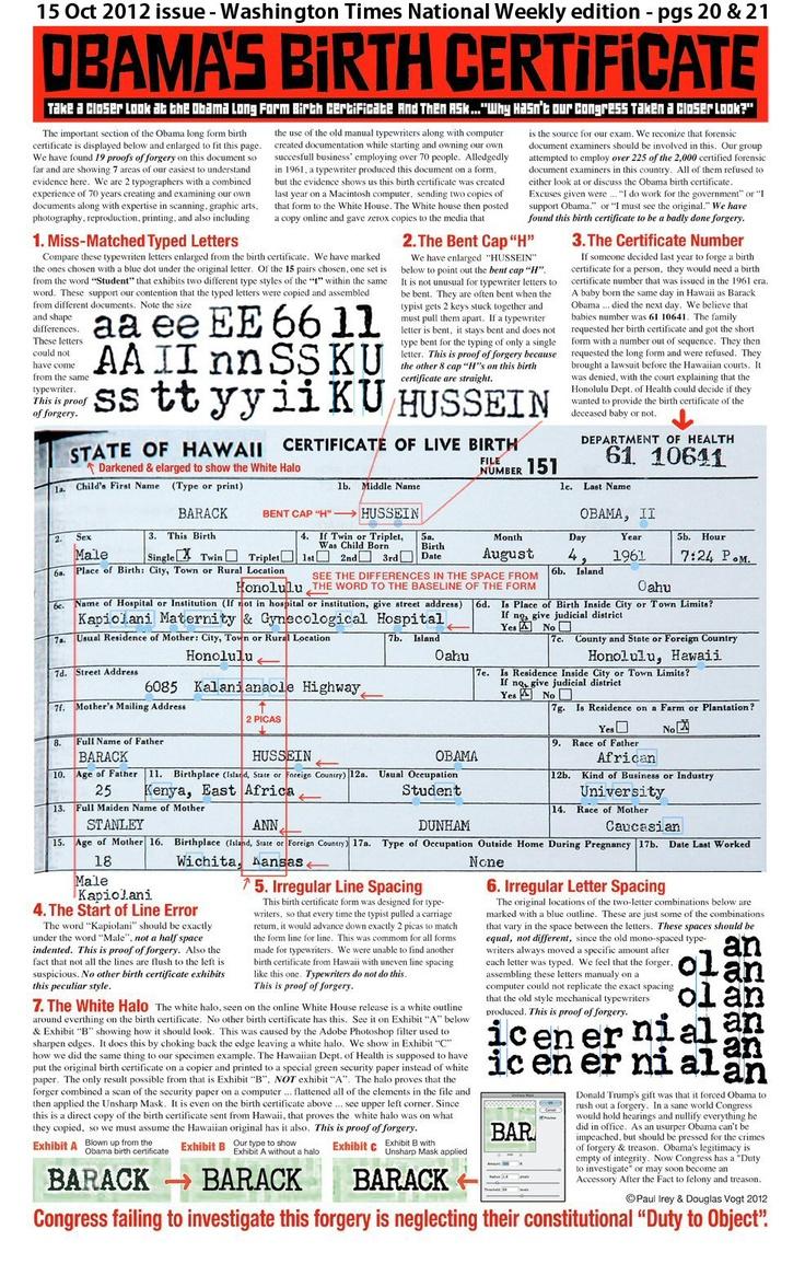 Ms de 25 ideas increbles sobre long form birth certificate en 19 nov 2012 obama long form birth certificate pdf file is not legitimate and is xflitez Choice Image