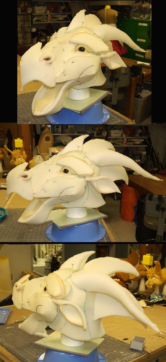 Dragon Head Mock-up by WanderingWindward on deviantART