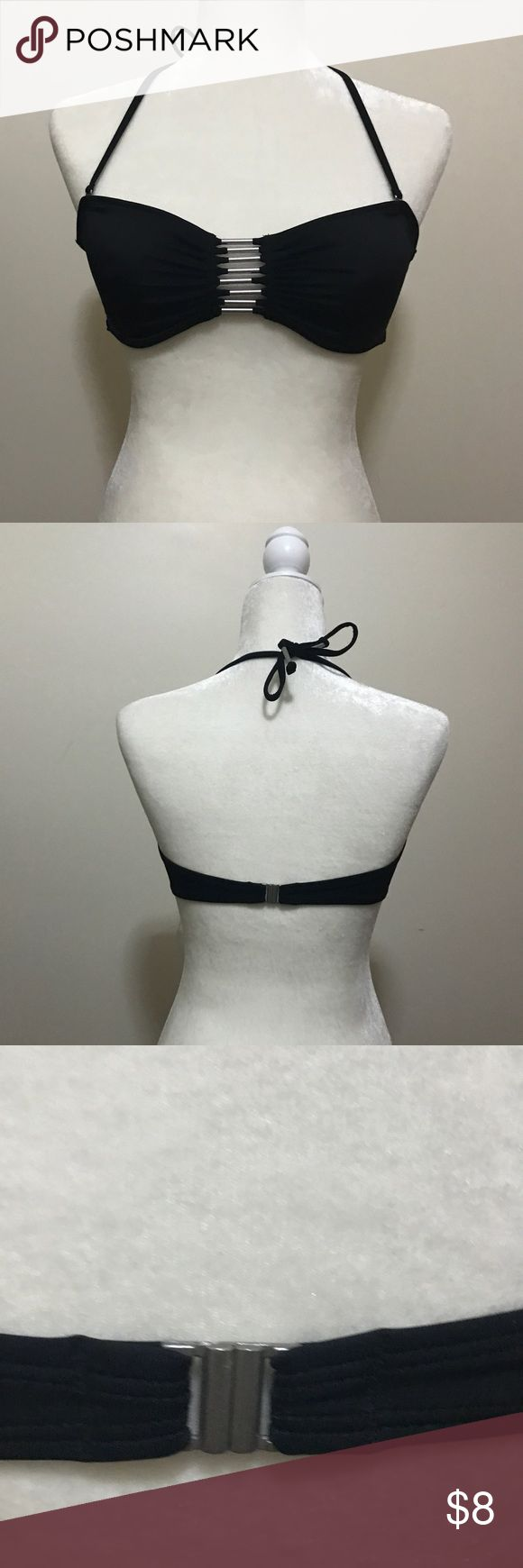 H&m bandeau bikini top New with out tag never worn , silver hardware, removable straps H&M Swim Bikinis