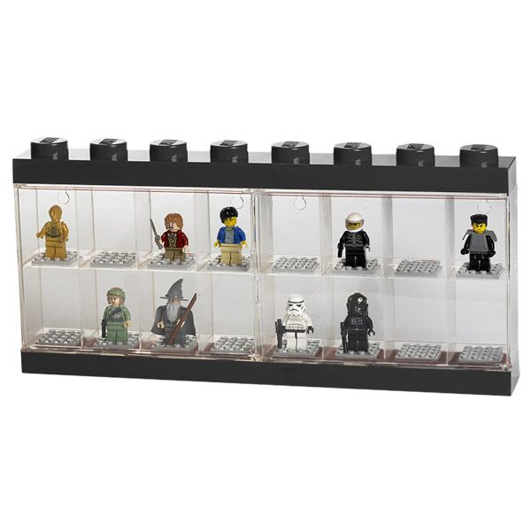 Lego display case, large, black, by Room Copenhagen.