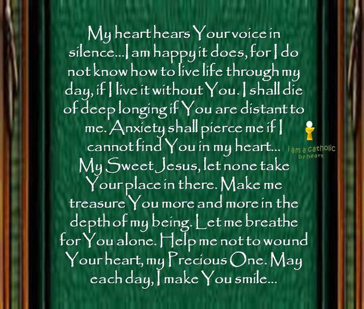 My heart hears Your voice