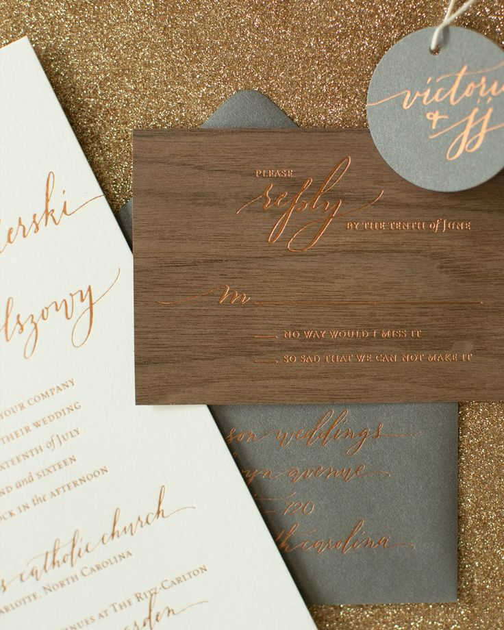 Rustic Boho Wood and Copper Foil Wedding