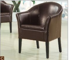 Leather Boston dark brown tub chair with contrast stitching http://solidwoodfurniture.co/product-details-sofas-3292-leather-boston-dark-brown-tub-chair-with-contrast-stitching.html