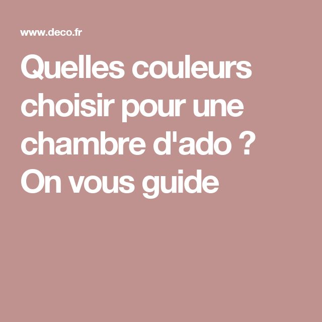 17 best ideas about chambre d ados 2017 on pinterest for Quelle couleur pour chambre ado