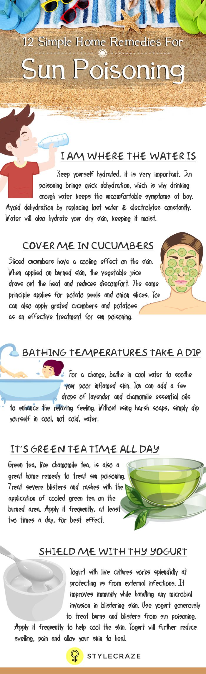 We all know over-exposure to sunlight and its ultra violet radiation (UV light) can cause severe sunburn. If this sunburn begins to affect your health, it's time to ring the alarm bells.  So, how do you recognize sun poisoning and what are you going to do about it? I have all the dope right here, collected from experiences of hapless friends. Do take a look.
