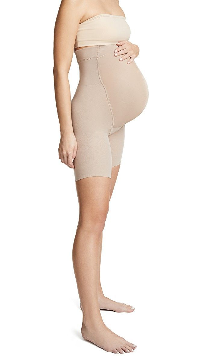 81769208bf990 Maternity Spanx – How to Get Slim Thighs and Silhouettes During Pregnancy   Maternity  Spanx   Maternity shapewear, Maternity Skirt, Maternity dresses for ...