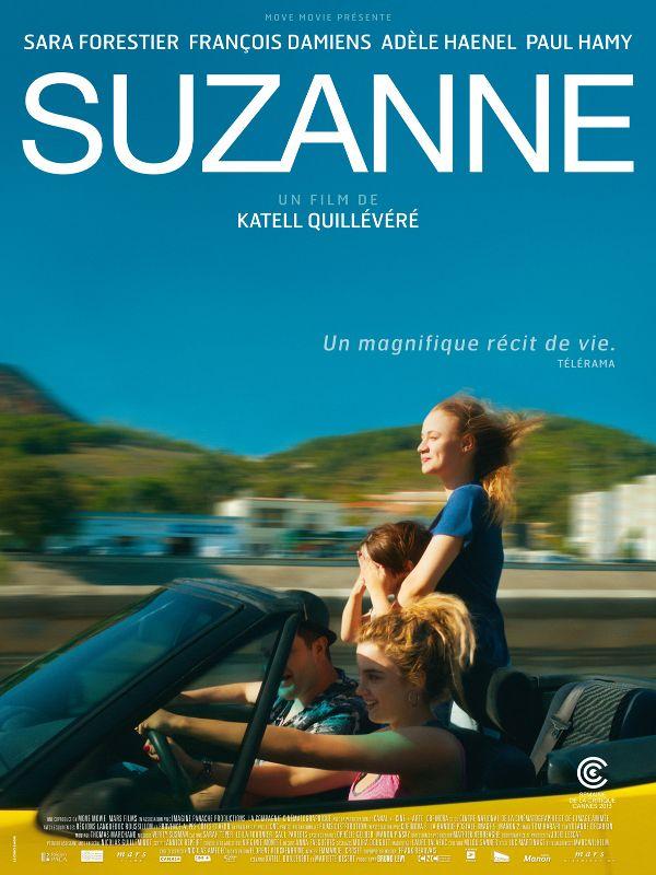 Suzanne est un film de Katell Quillévéré avec Sara Forestier, François Damiens. Synopsis : Fille-mère à l'adolescence, Suzanne vit avec son père routier et sa sœur dont elle est inséparable. Sa vie bascule lor
