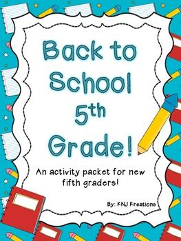 This is a pack full of activities for new fifth graders at the beginning of the year! It incorporates the number 5 into many different kinds of activities, including icebreakers, getting to know you, creativity, word building, math, and writing skills.
