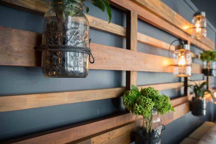 Outdoor Furniture Timber Wallart Jars