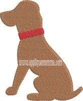 Simple Dog Mini Embroidery Design