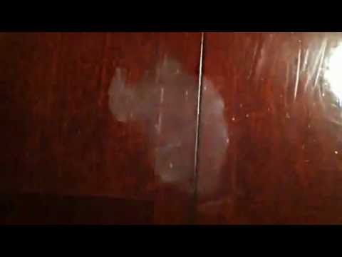 How to remove WHITE HEAT STAINS from a wooden table.  This REALLY works!  I did this tonight on my dining room table.  I don't have an iron but I do have a steamer and it worked!  I could not believe it!  I shined my table up with a dab of olive oil.  Looks like new!