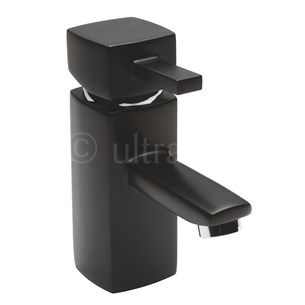Ultra Black Muse Single Lever Mono Basin Mixer With Pop Up Waste