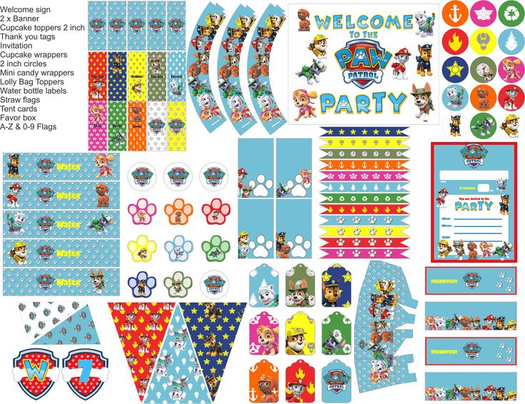 Excited to share the latest addition to my #etsy shop: Paw Patrol party printables, Paw Patrol Birthday party decorations, everything you need for your Paw Patrol party http://etsy.me/2E1XxyL #supplies #blue #birthday #white #party #partyprintables #birthdayprintables