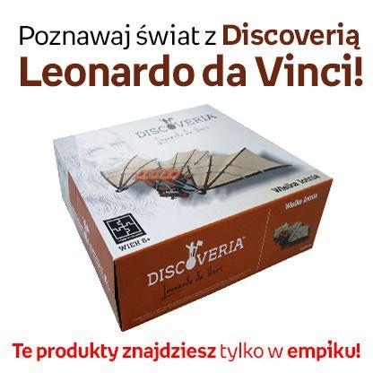 """Zabawa i nauka mogą się łączyć! Przedstawiamy naszą nową kolekcję """"Discoveria Leonardo da Vinci"""". Dzięki niej skonstruujecie niesamowite wynalazki :)"""