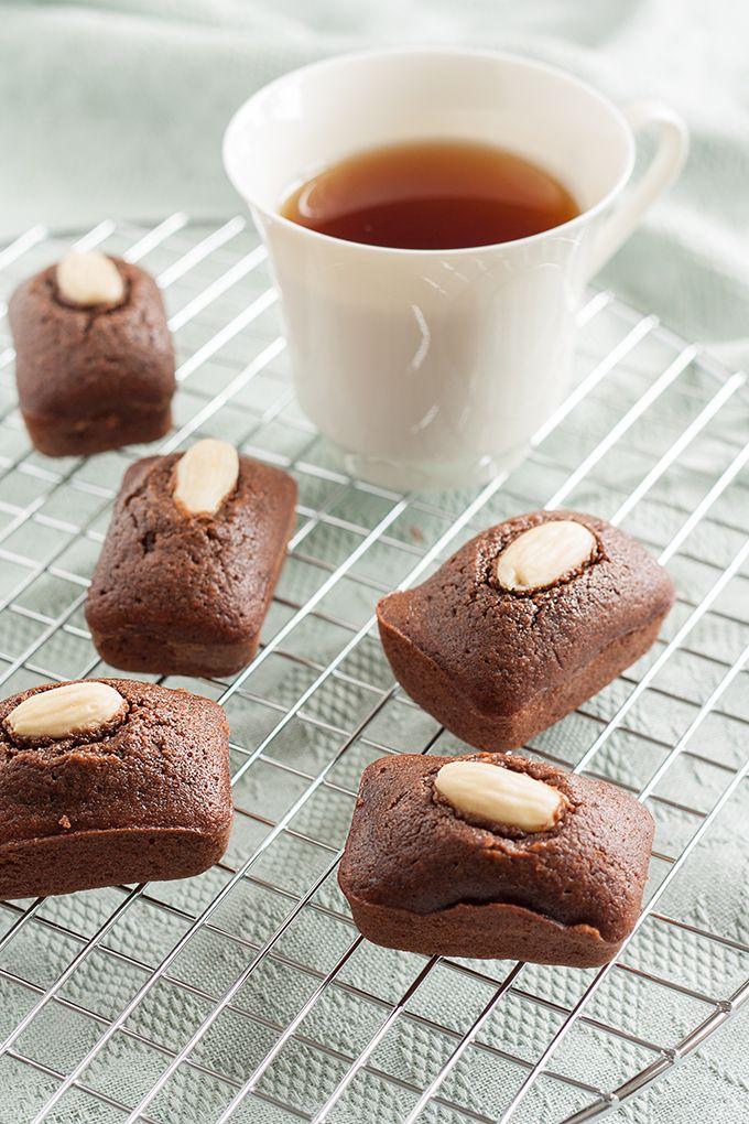 Kakao-Financier aus Reismehl mit schnellem und einfachem Rezept.  #backen