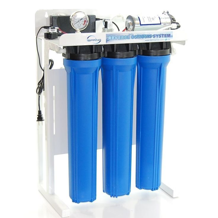 iSpring RCB3P Blue Plastic Commercial Reverse Osmosis Water Filter System with