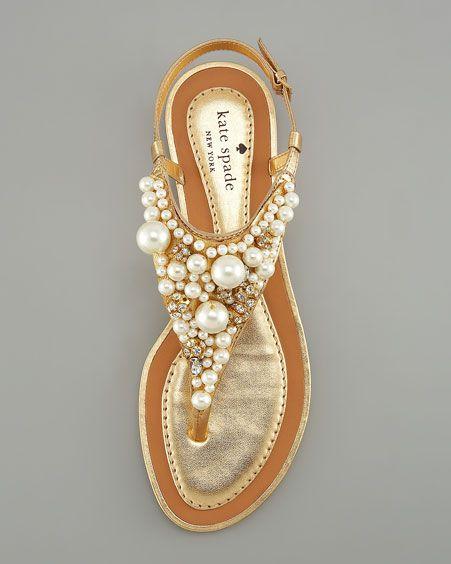 kate spade new york imani bead & crystal thong sandal