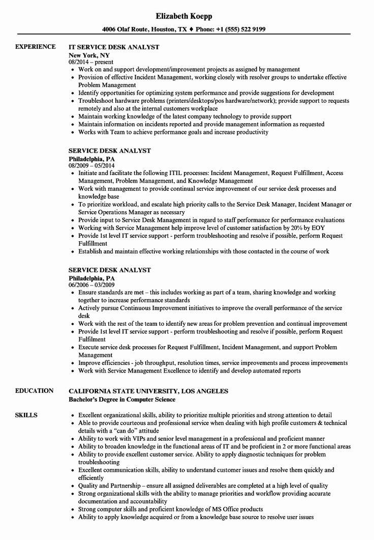 Help Desk Resume Example Luxury Sample Resume for Help