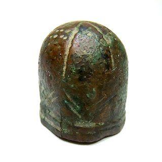 Antiker Bronze Fingerhut / Fingerschutz um Christi Geburt