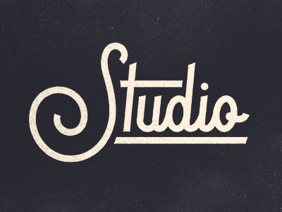 Dribbble - Studio Type by Adam Grason