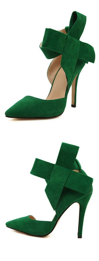 Give some drama to a simple look with a pair of high heeled pumps .
