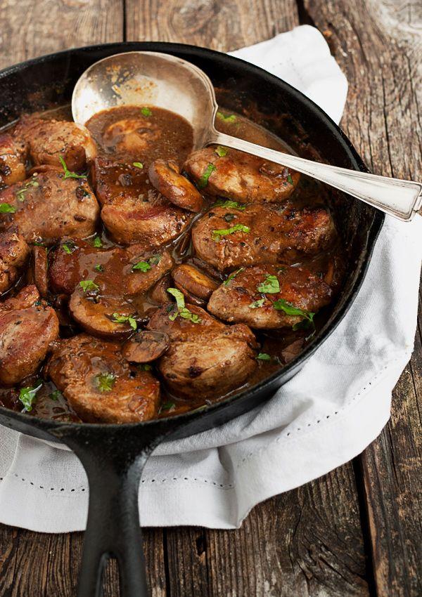 Skillet Pork Medallions in Mushroom Marsala Sauce