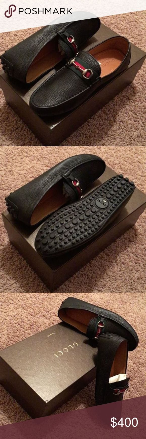 Men's Black Gucci Horse Bit Driving Loafers Currently in Stores! | NIB ( New in Box) Men's Gucci Horse Bit Driving Loafers | Timeless Piece by Gucci | Size: 9.5; regular width Gucci Shoes Loafers & Slip-Ons