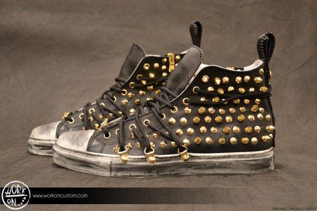 Work_On leather shoes - #leather #shoes #custom #studs #sneakers #workon #fashion #handmade #madeinitaly - www.workoncustom.com - mod. Hard Rock