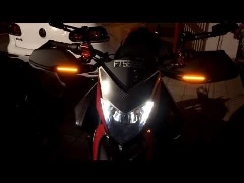 Ducati Hypermotard Aftermarket 'Blackout' Front LED Turn Signals