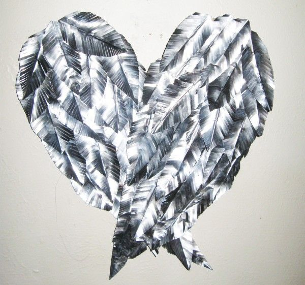 Recycled Aluminum Can - Angel Wings Wall Art | Recyclart.  Note to self...Got to make some of these!