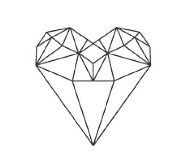 Diamond cut Heart Stain Glass